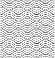 Black and white waves seamless pattern vector