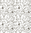 Seamless stylish pattern with hearts vector