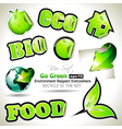 Bio set stickers vector