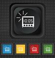 Digital alarm clock icon sign symbol squared vector