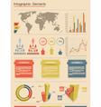 Retro infographic elements vector