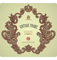 Hand draw ornate vintage frame vector