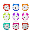 Colorful alarm clock set vector
