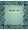 Abstract vintage background with hand drawn lacy vector