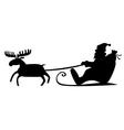 Santa sleig vector