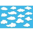 Cartooned clouds background vector