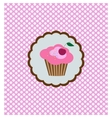 Background with delicious cupcake vector