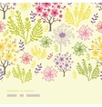 Blossoming trees horizontal border seamless vector