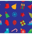 Seamless pattern new year snowflakes socks mittens vector