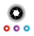 Photography aperture logo vector