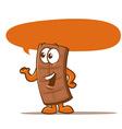Chocolate bar cartoon vector