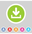 Download upload flat icon button set load symbol vector