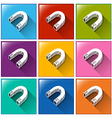 Magnet icons vector