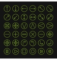Thin icons set for web and mobile line simple vector