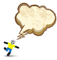 Soccer icons character with speech bubble vector