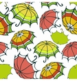 Seamless pattern with stylized colorful umbrellas vector