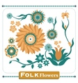 Folk flowers vector