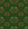 Seamless patterns on green background vector