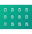 Clipboard icons on green background vector