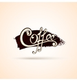 Coffee shop labels with calligraphy vector