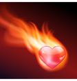 Abstract background with burning heart vector
