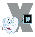 Letter x with a dental x ray vector