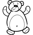 Teddy bear cartoon for coloring book vector