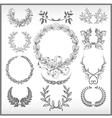 Set of laurel wreaths vector