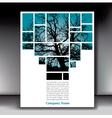 Tree box page with gray border vector