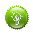 Green symbols lamp vector
