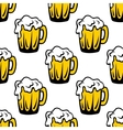 Pint of frothy beer seamless background pattern vector