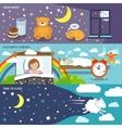 Sleep time banners vector