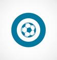 Football ball bold blue border circle icon vector