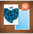 Spring backgroundcard with blue leaf heart vector