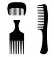 Three combs vector
