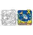 X-ray fish coloring book alphabet x vector