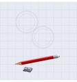 The figure shows the gear and pencil with sharpene vector
