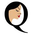 Faces in alphabet q- logo for skin tanning vector
