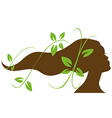 Woman head profile vector