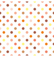 Tile polka dots on white background vector