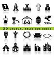 Set christian icons vector