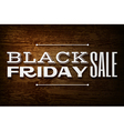 Black friday announcement on wooden background vector