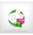 Swirl web design infographic bubble - flat concept vector