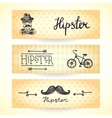 Hipster banners set vector