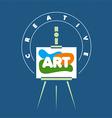 Logo creative easel for art vector