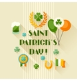 Saint patricks day greeting card in flat design vector
