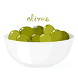 Olives in bowl vector
