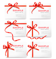 Gift tags and cards vector