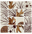 Set of abstract backgrounds with tree branches and vector