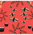 Sushi hand drawing background vector